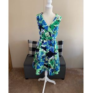 Calvin Klein Floral Flare Skirt Dress Size 14